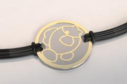 Bracelet acier or poisson