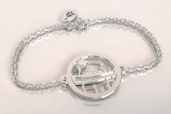 Bracelet pinasse et pignots chaine argent