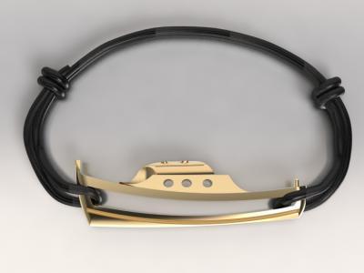 bracelet pinasse BRONZE doré or jaune