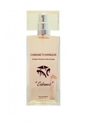 """Parfum """"CABANES""""  50 ml avec pendentif ARGENT dans le flacon"""
