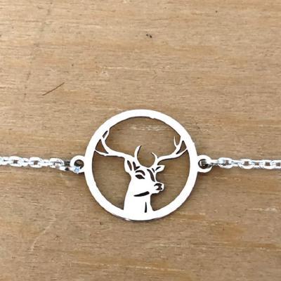 Bracelet sur chaîne Argent 925/1000 - 1Cerf