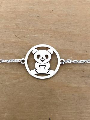 Bracelet sur chaîne Argent 925/1000 - 1 Panda