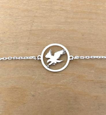 Bracelet sur chaîne Argent 925/1000 - Aigle en Vol