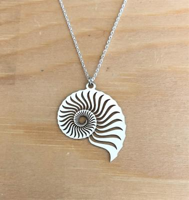 collier argent 925/1000 Ammonite