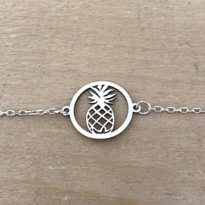 Bracelet sur chaîne Argent 925 - Ananas