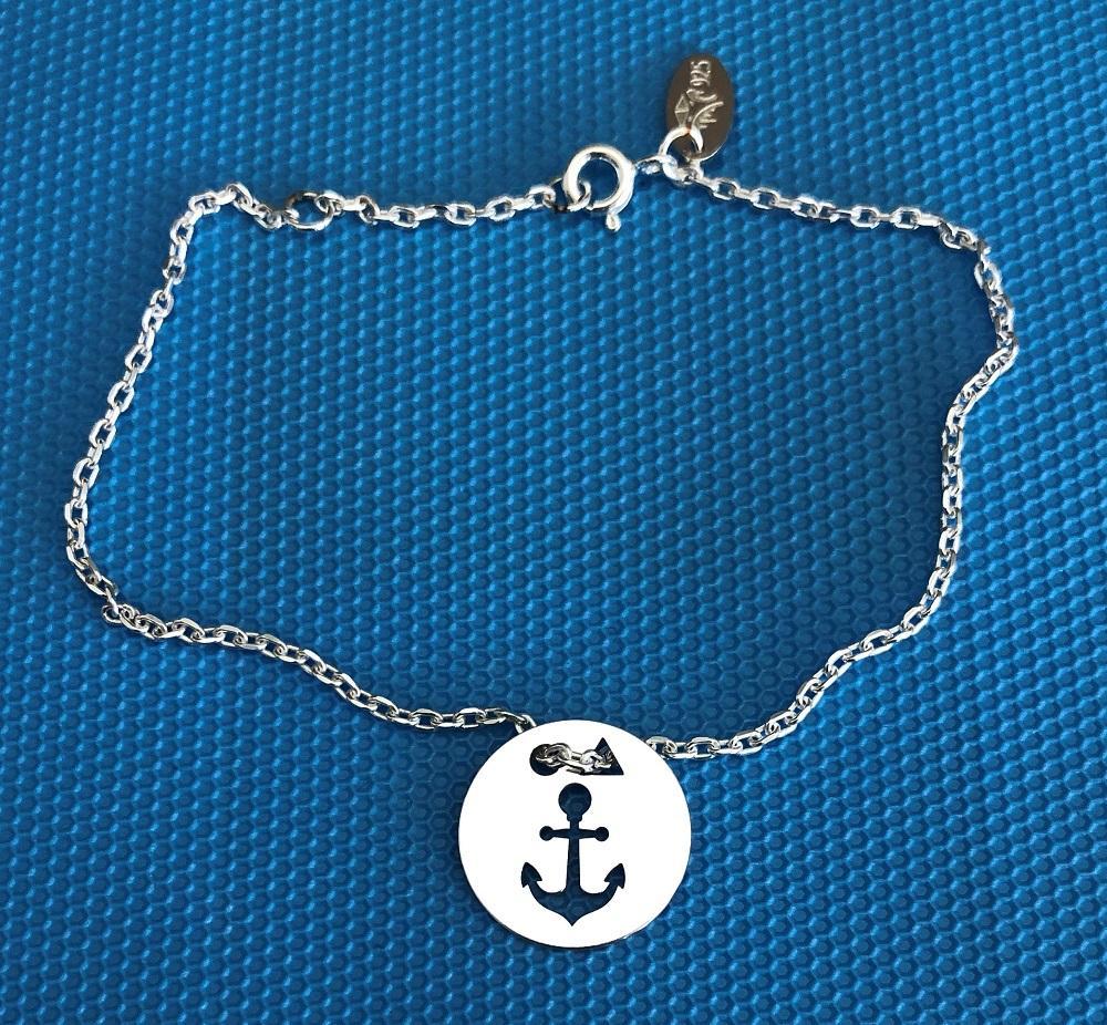 Ancre brac chaine bleu 1