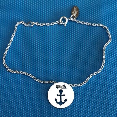 Token's - Bracelet chaine - Ancre Marine