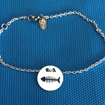 Token's - Bracelet chaine - Arête de poisson