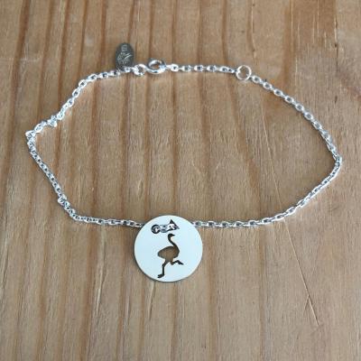 Token's - Bracelet chaine - Autruche