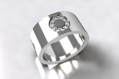 bague argent 925/1000  diamants 0.13 ct