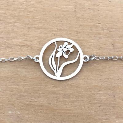 Bracelet sur chaîne Argent 925 - Jonquille