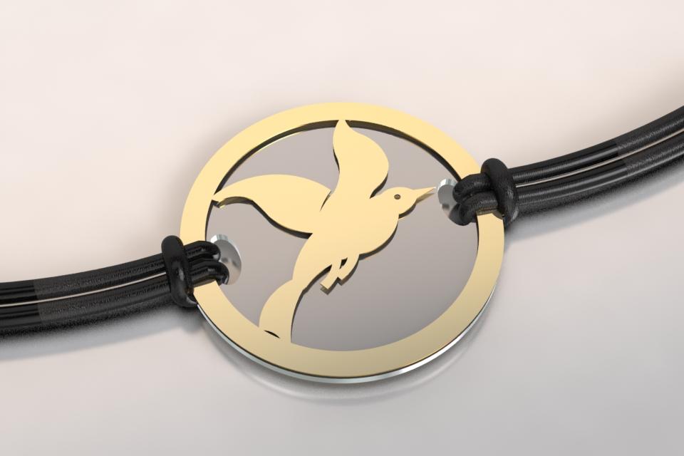 Bracelet acier or cayouckette