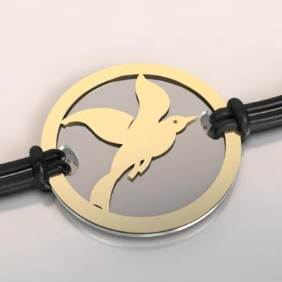 bracelet cayouckette or et acier