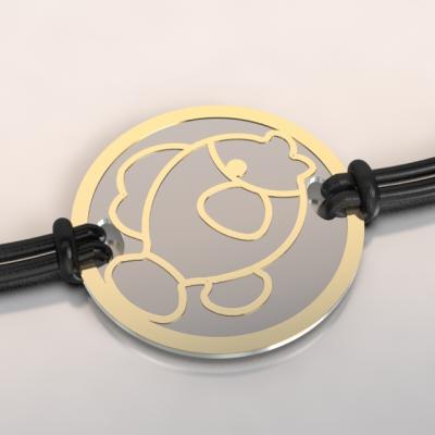 bracelet poisson or et acier