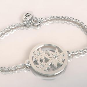 Bracelet argent 3 edelweiss
