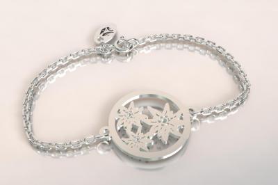 Bracelet sur chaîne Argent 925 - 3 Edelweiss