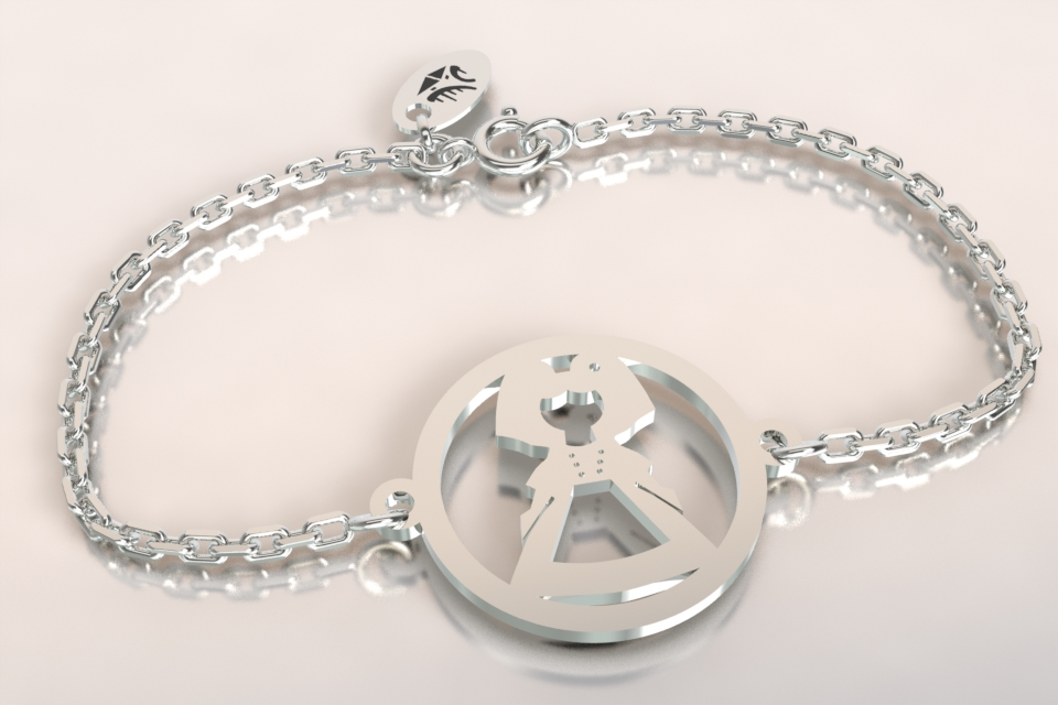 Bracelet argent chaine alsacienne