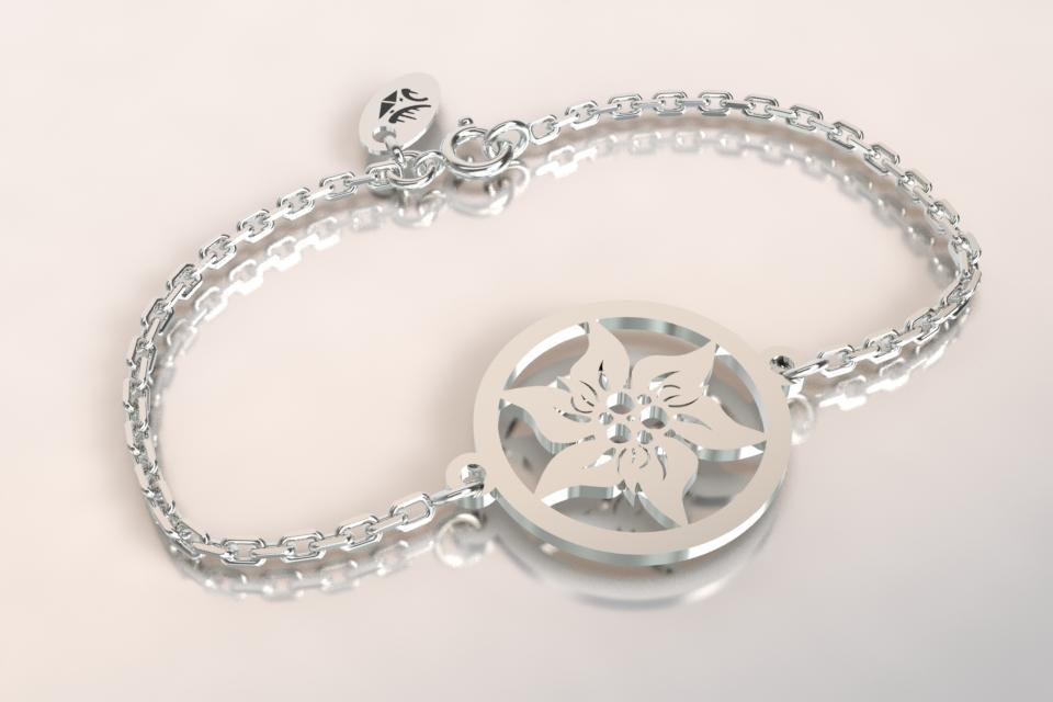 Bracelet argent edelweiss 6