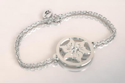 Bracelet sur chaîne Argent 925 - Edelweiss 6