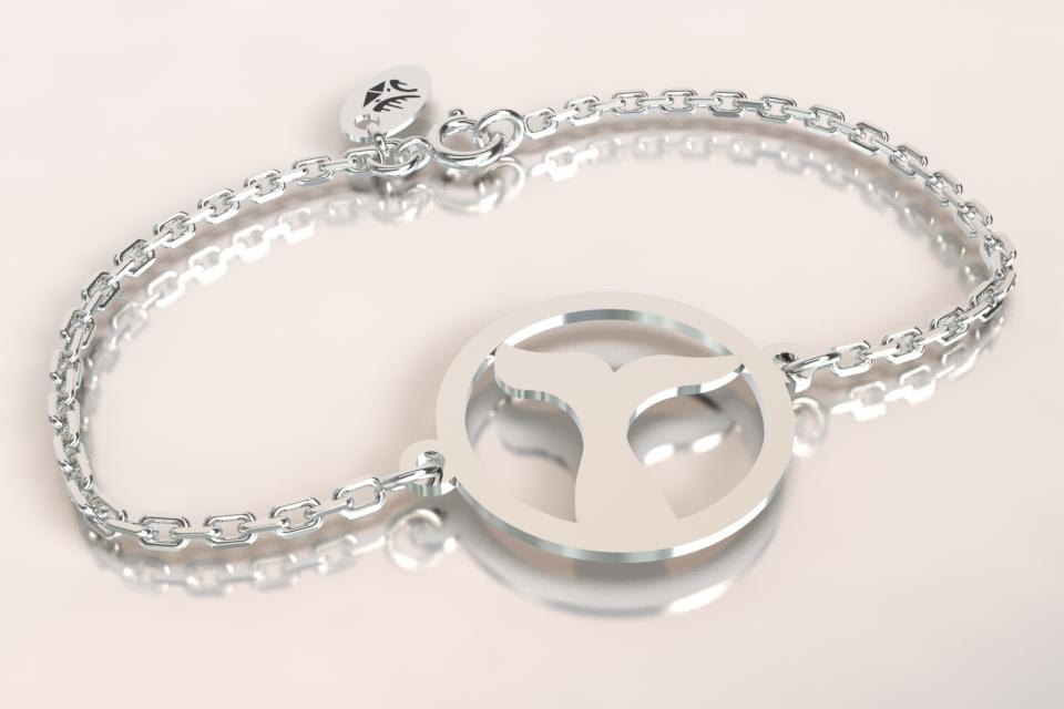 Bracelet baleine chaine argent