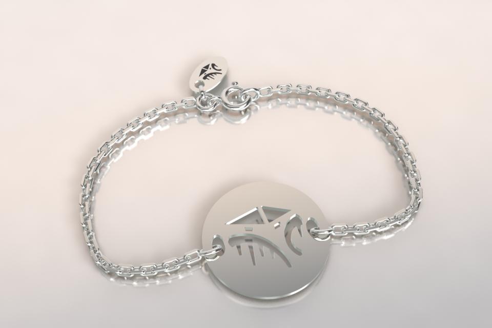 Bracelet cabane chaine argent