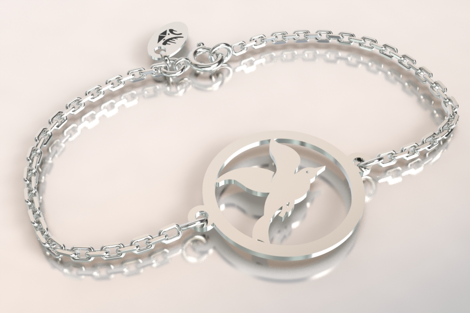 Bracelet cayouckette argent