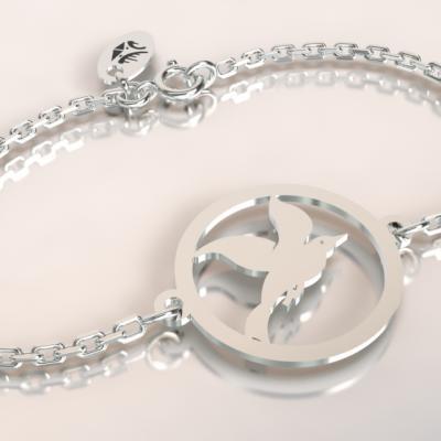 bracelet cayouckette argent 925/1000 sur chaine