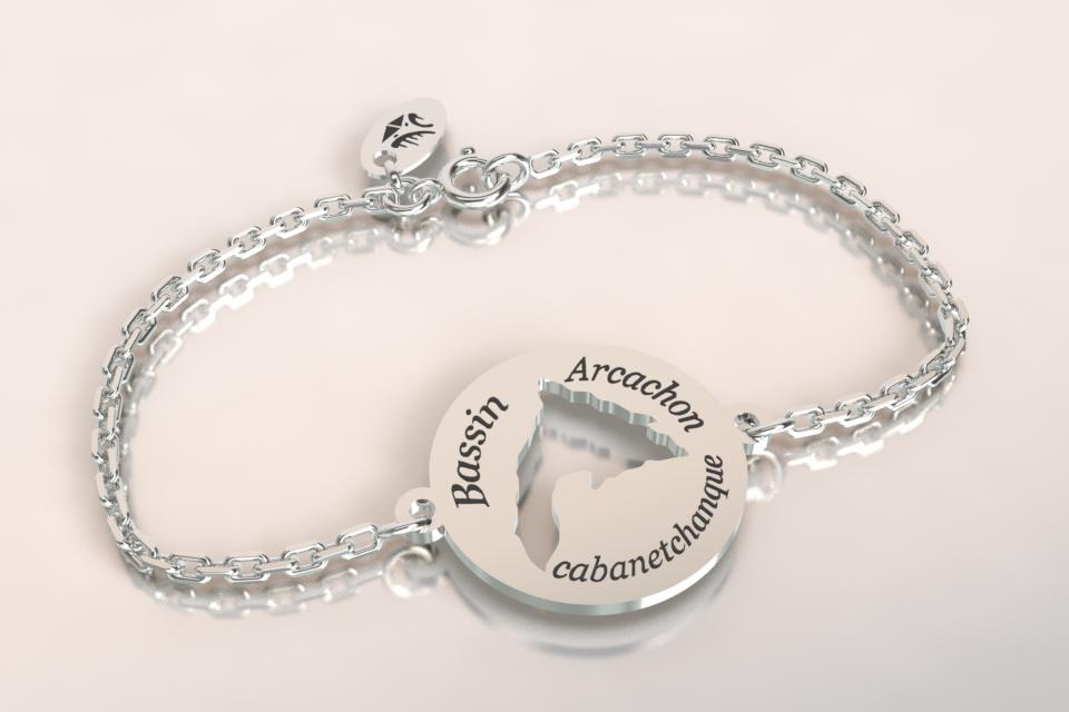 Bracelet chaine argent bassin d arcachon