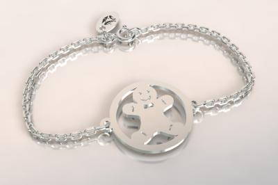 Bracelet chaine argent 925/1000 Manala  poids 1.8gr