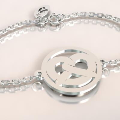 Bracelet chaine argent 925/1000 Bretzel poids 1.8gr