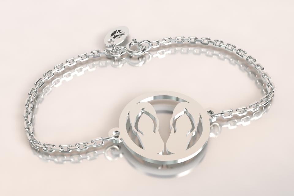 Bracelet chaine argent tongue copie