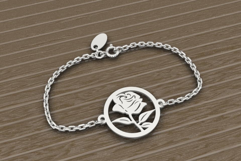 Bracelet chaine rose
