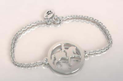 bracelet cavalier au dressage ,argent 925/1000 1.8gr