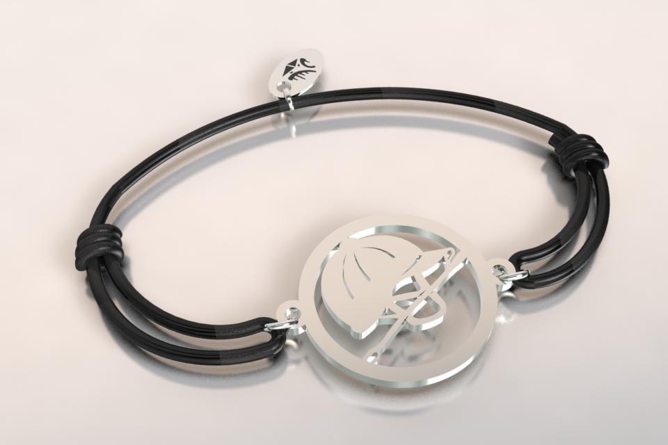 Bracelet cordon bombe cravache