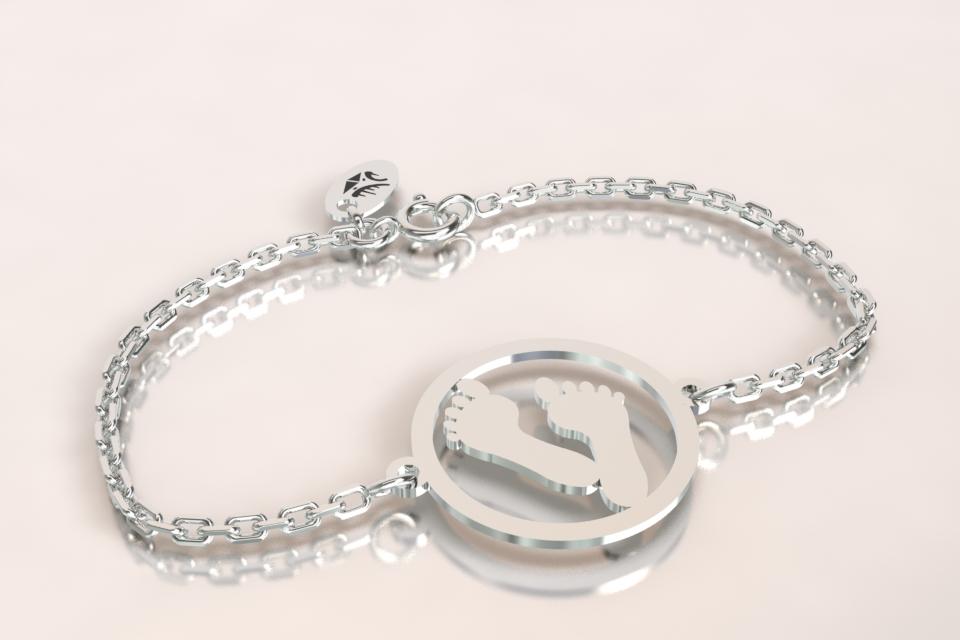 Bracelet empreinte argent