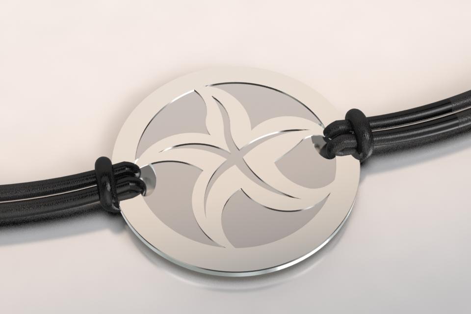 Bracelet etoile de mer argent et acier 1