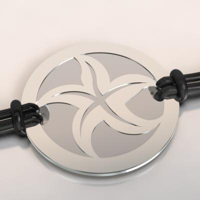 bracelet étoile de mer argent et acier