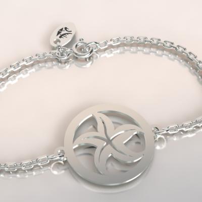 bracelet étoile de mer argent 925/1000 sur chaine