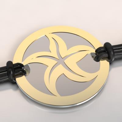 bracelet étoile de mer or et acier