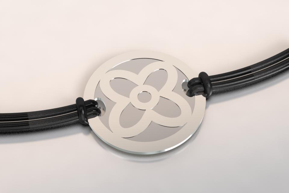 Bracelet fleur argent 1