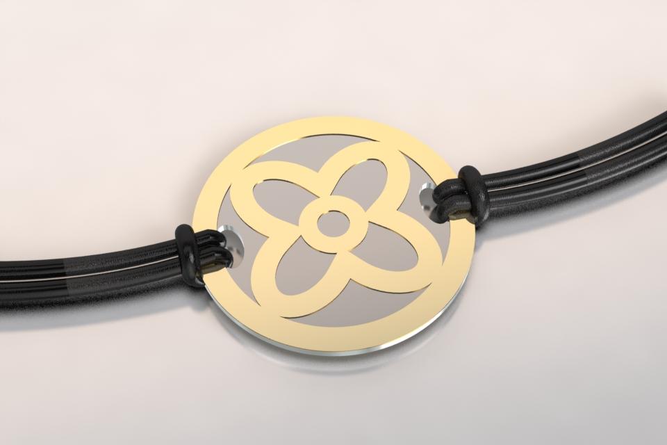 Bracelet fleur or
