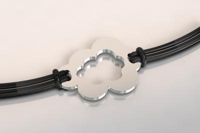 barcelet nuage argent et acier