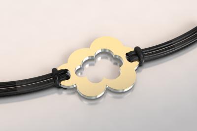 bracelet nuage or et acier