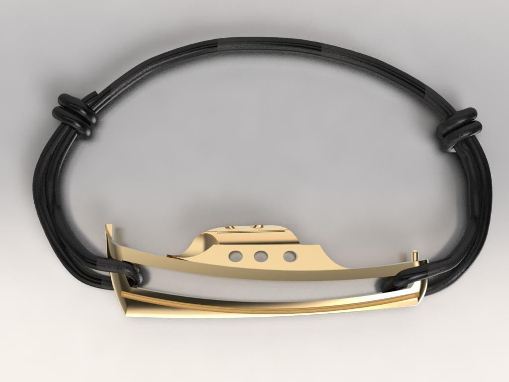 Bracelet pinasse or