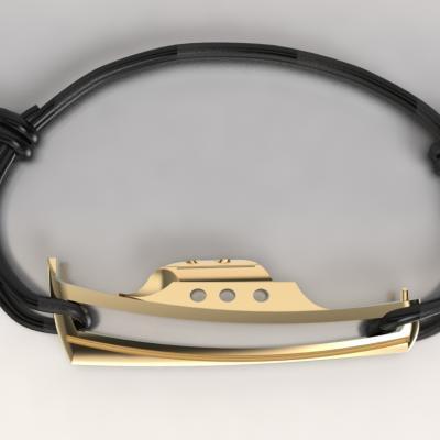bracelet pinasse ARGENT 925/1000 doré or jaune