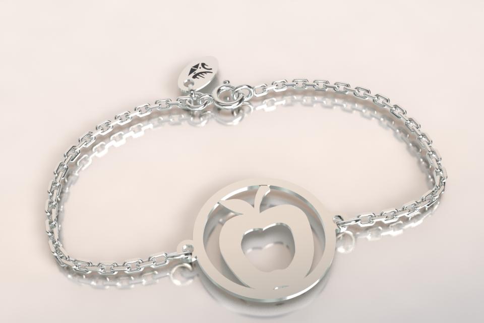 Bracelet pomme argent