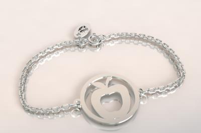 Bracelet sur chaîne Argent 925 - Pomme