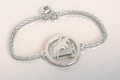 bracelet cavalier au saut d'obstacle ,argent 925/1000 1.8gr