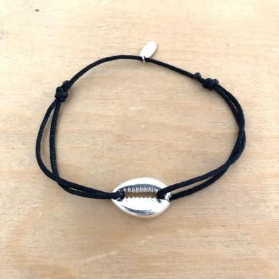 Bracelet Cauri Argent 925/1000 sur cordon simple