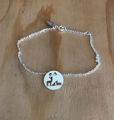 Token's - Bracelet chaine - Cerf famille